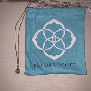 Kendra Scott Teal and gold necklace